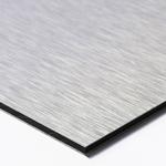 Panneau en aluminium<br>Alupanel® argent brossé