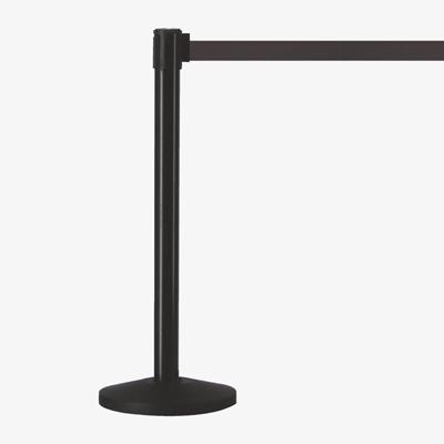 barrière rétractable poteaux ceinture noir