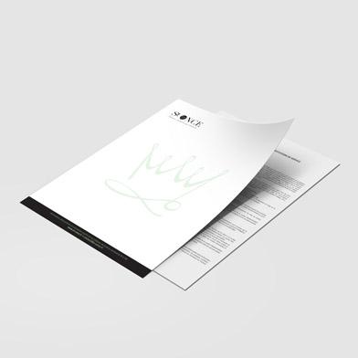 impression papier en-tête recto verso
