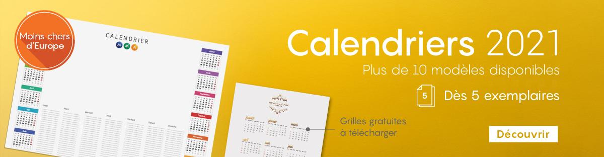 Impression personalis�e calendriers en ligne